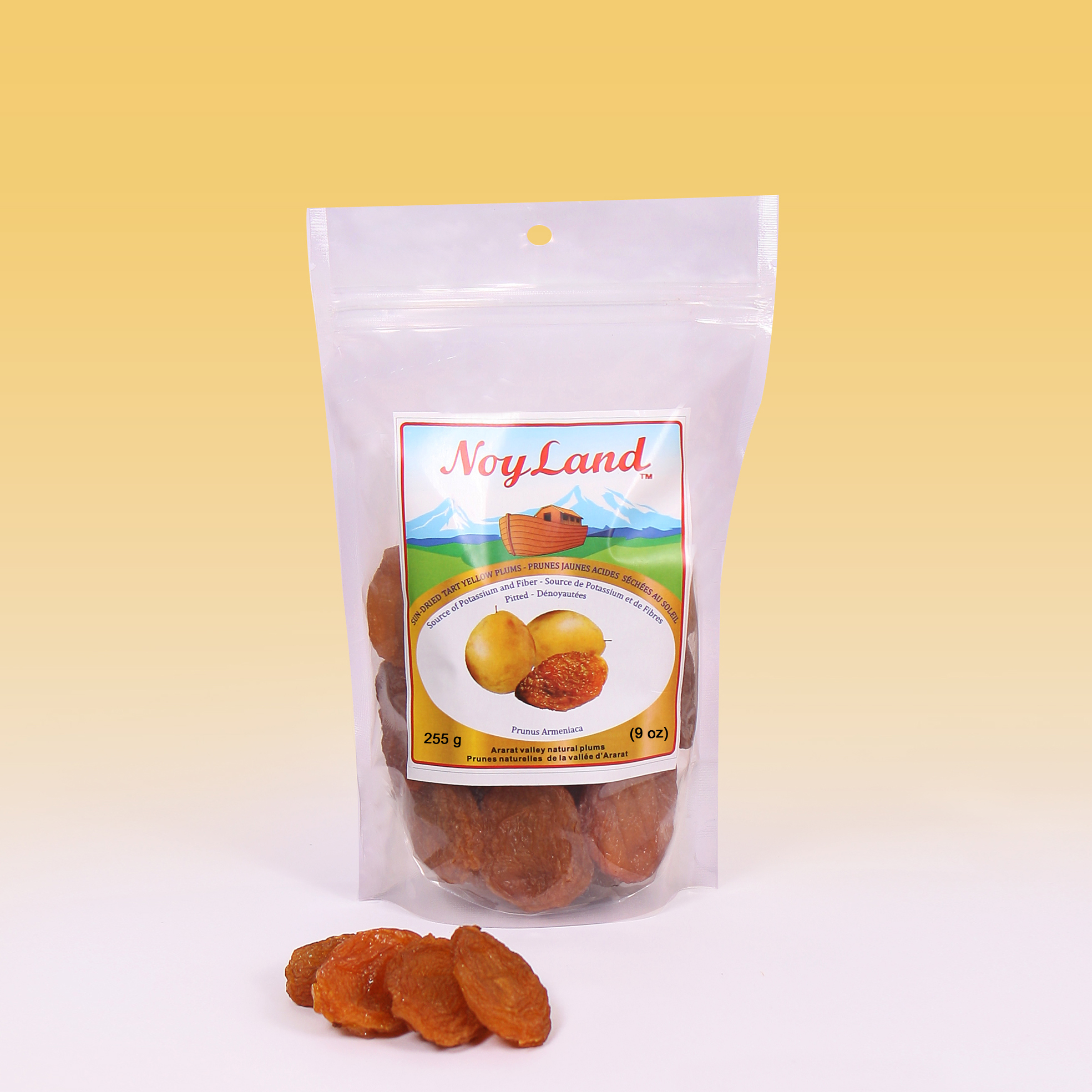 SUN-DRIED TART YELLOW PLUMS 255 g